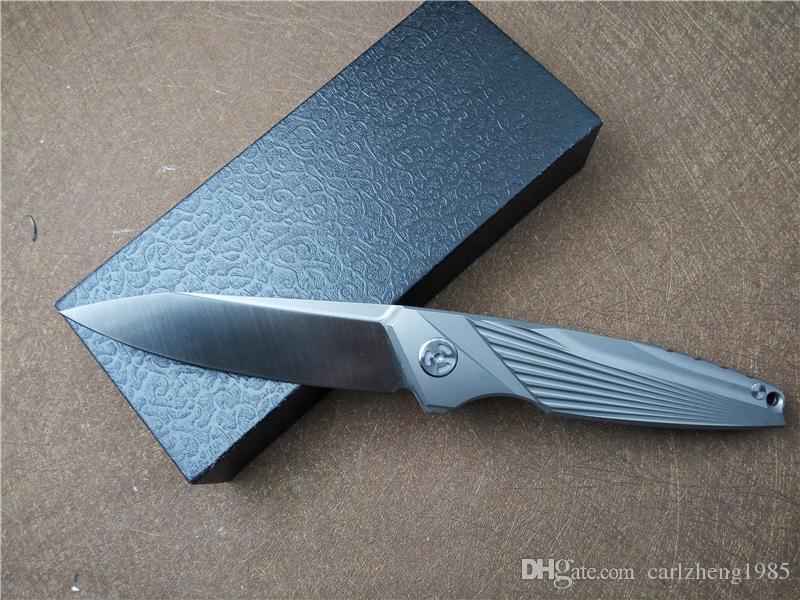 KESIWO K99 M390 Coltello da tasca con lama pieghevole in lega di titanio Maniglia Cuscinetto a sfere in ceramica Coltelli a pinza Coltello da sopravvivenza campeggio EDC