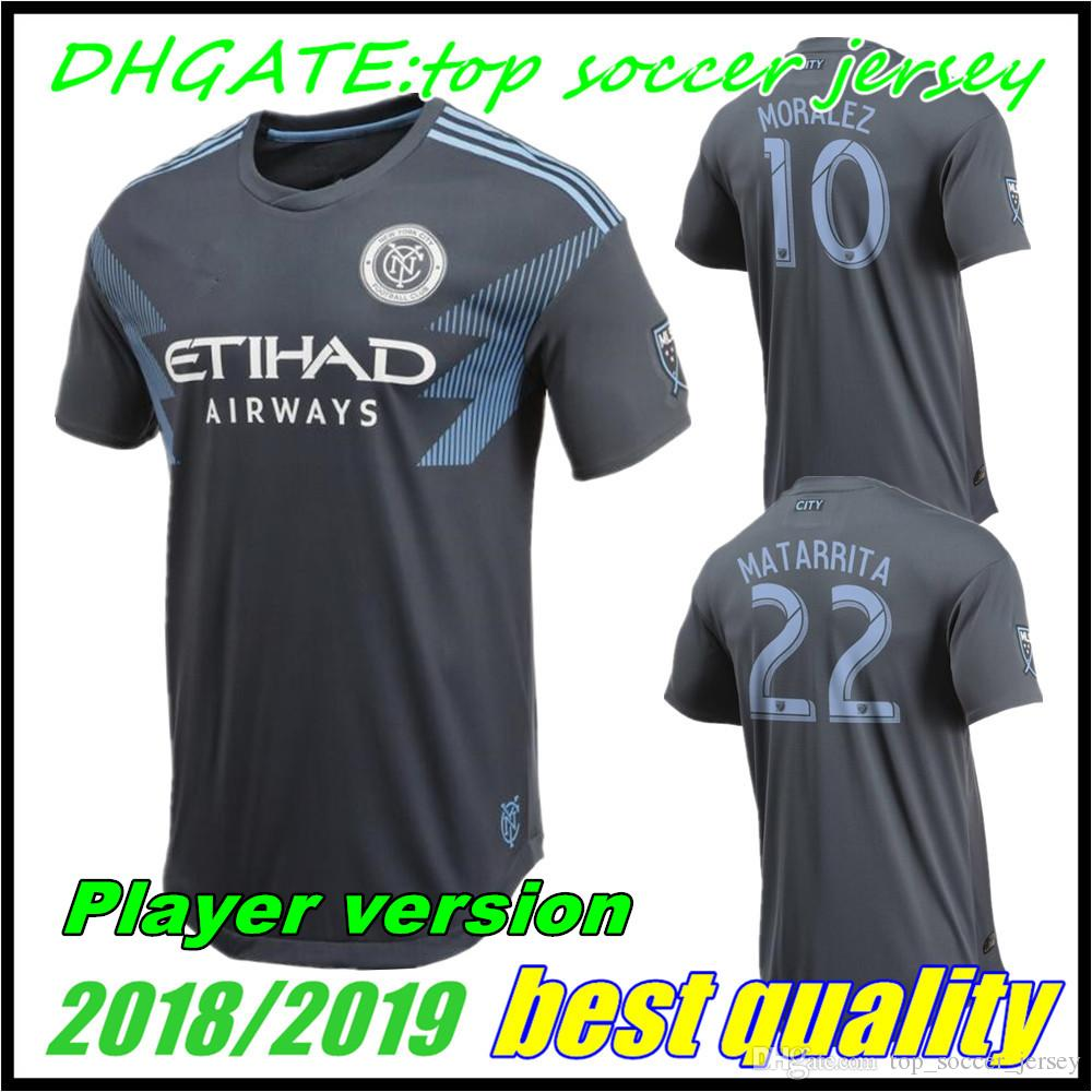 Jugador Versión 2018 Nycfc Fc New York City Camisetas De Fútbol Ausentes  Medina Lampard David Villa Moralez Casa Fútbol Camisetas Calidad Superior  Por ... 09d1feb28a7e7