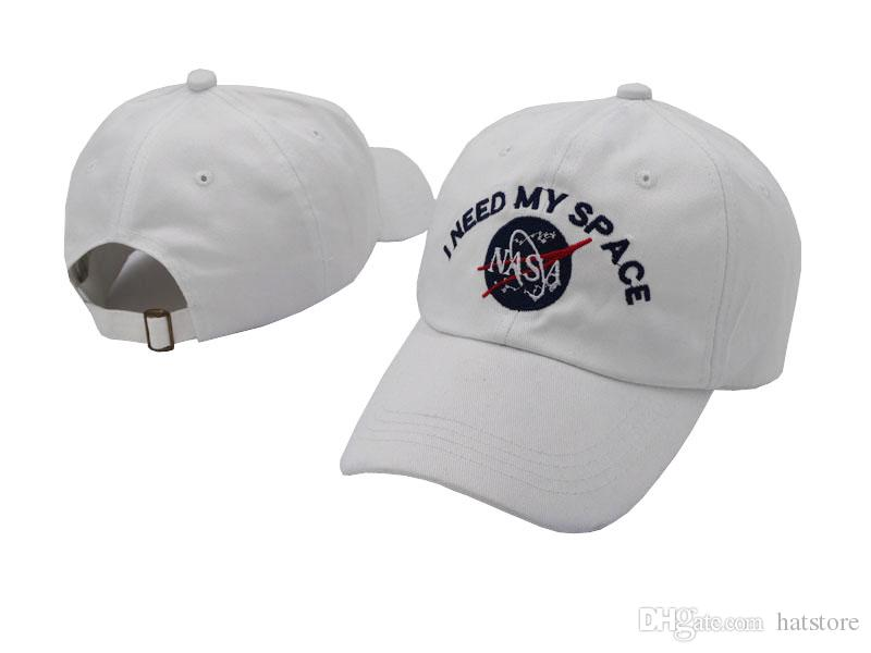 5586acf2145 Hot Sale White Nasa I Need My Space Snapback Caps Baseball Hats For Men  Women DEUS Casquette Hats Adjustable Ball Caps Sun Hat Caps For Men Custom  Baseball ...