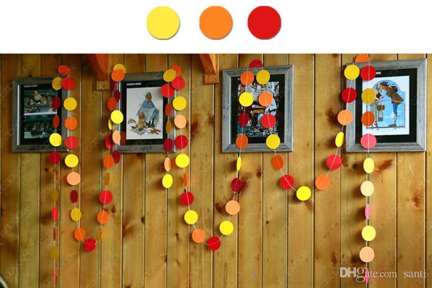 4 Meter Herz Punkte Papier Flagge Party Glocke Girlande Dekoration Banner Bunting für Geburtstag Hochzeit Veranstaltung neue dekorative Blumen Kränze