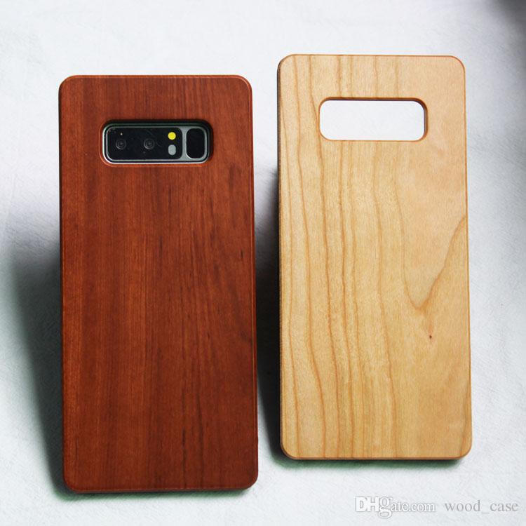 Genuine Wood Case For iphone 6 6s 7 8 plus X Nature Real Wooden Bamboo Phone Cover Shell For Samsung Galaxy S8 S7edge Note 8