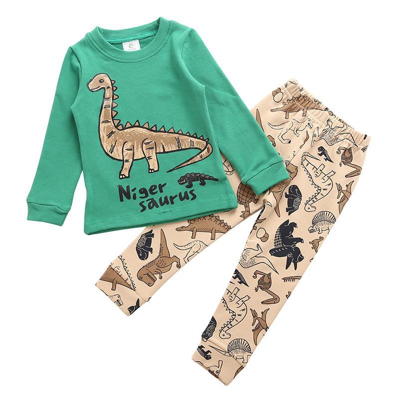 Acquista pigiama bambini set dinosauro modello notte completo