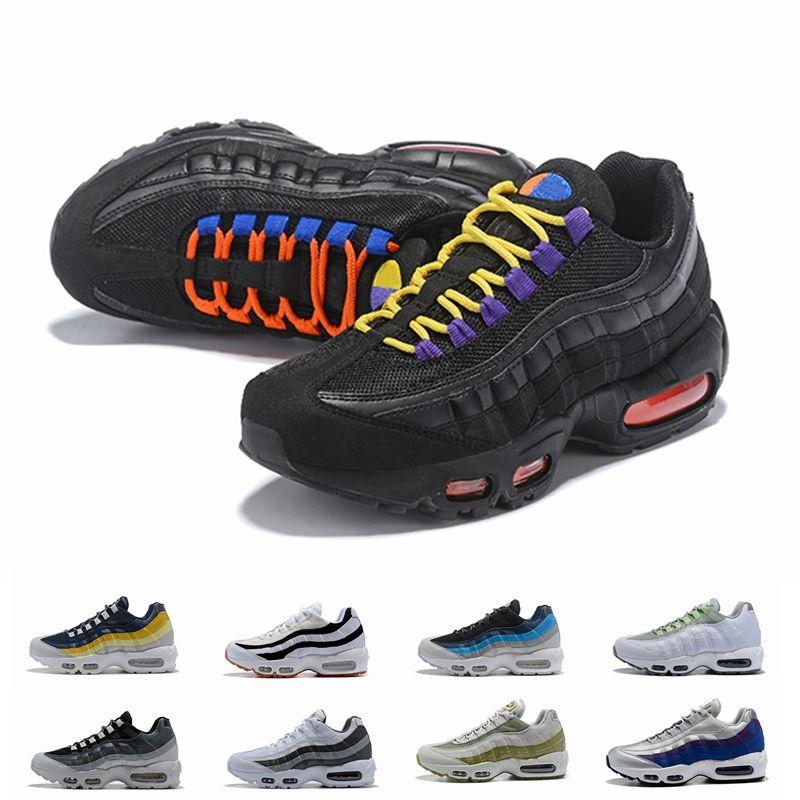 2018 Neue 95 Ultra OG ERDL Party Schwarz Neon Lemon Wash Laufschuhe Für Männer Sport Designer 95s Trainer Zapatos Mens Sneakers chaussures