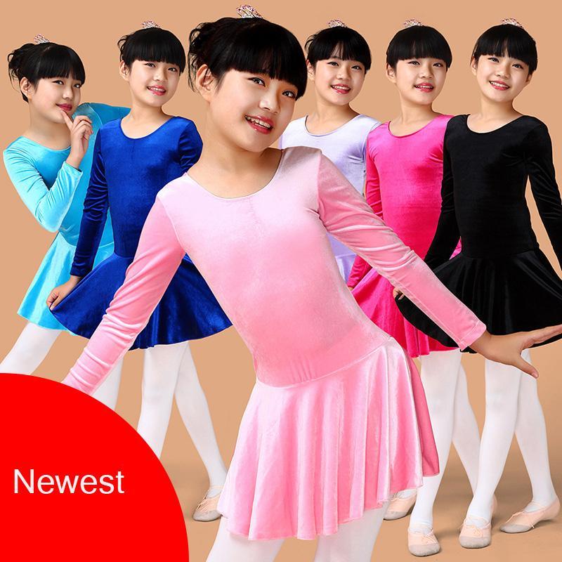 cd92d359e0 Compre Dança De Veludo Collant Meninas Ballet Infantil Ballet Roupas  Crianças Crianças Trajes De Dança Roupas De Ginástica Prática Dancewear De  Purlove