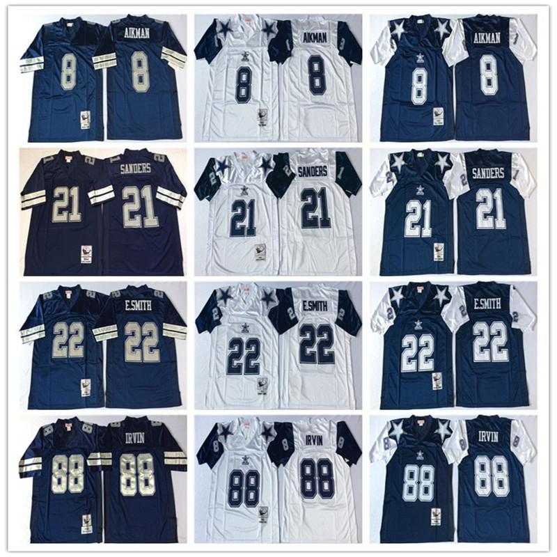 e8d393149a7 Throwbacks Dallas Cowboys Men 8 Troy Aikman 12 Roger Staubach 21 ...