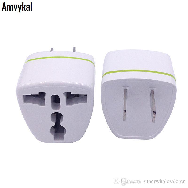 Amvykal WN-06 CE Belgelendirme AC Güç Elektrik Fiş Adaptörü Soket Evrensel ABD Seyahat UK AU AB için ABD fiş adaptörü Dönüştürücü