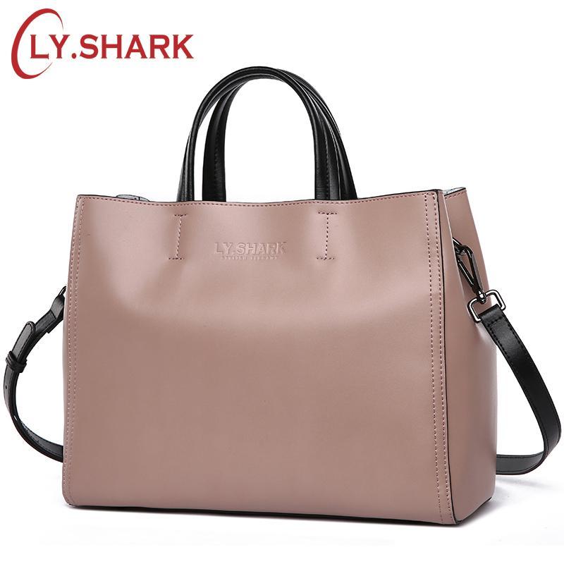 b16e6b2c0df4 LY.SHARK Women Bag Messenger Shoulder Crossbody Bag Ladies Genuine ...