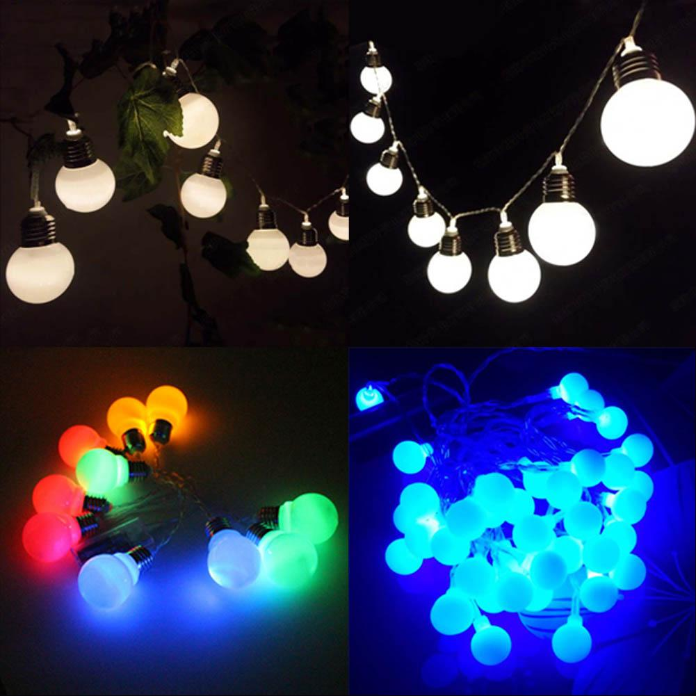 wholesale 12m10 bulb string of ball lights xmas fairy lights sphere lighting for wedding party garland white string lights battery powered string lights