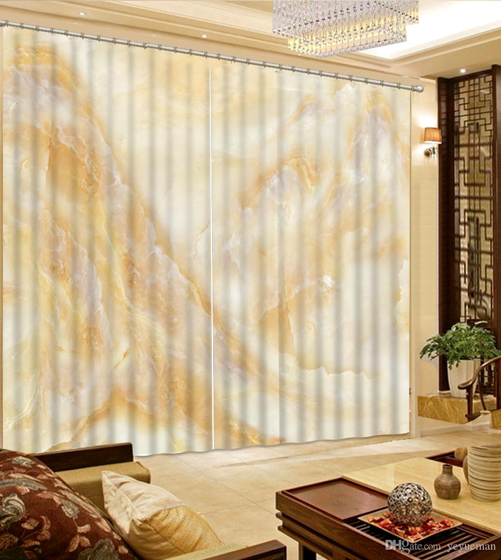 Luxury Curtains Blackout Window Curtain Bedroom Children Room Curtains  Beautiful marble Hotel Office Drapes