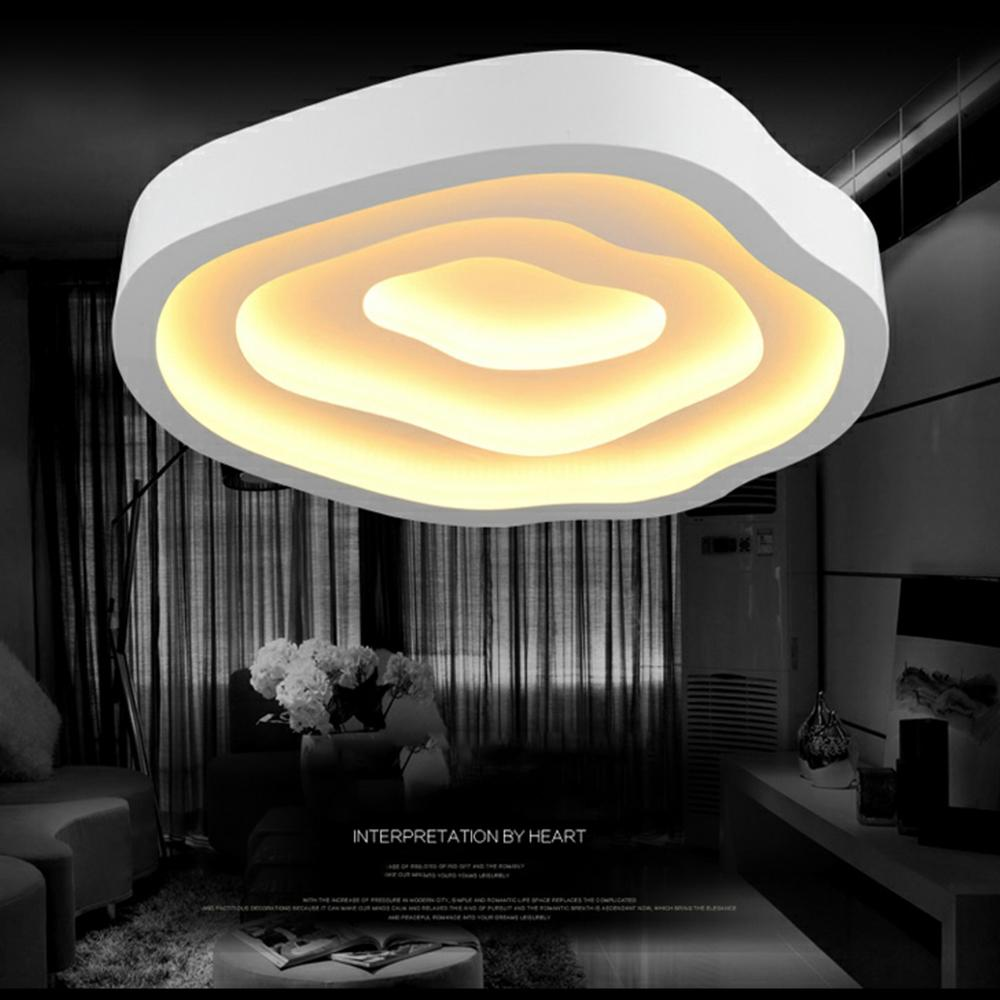 FULOC Moderne Deckenleuchten Lampen für Wohnzimmer Schlafzimmer Lüster de  Sala Hause Dezember LED Kronleuchter Decke Fernbedienung