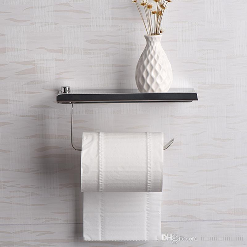 New Bathroom Paper Storage Rack Towel Holder 1pc Adhesive Paper Towel Holder Under Cabinet For Kitchen Rapid Heat Dissipation Paper Holders