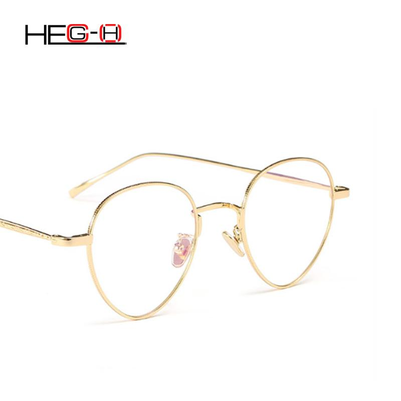 6e4be11b7d HEG-H Lady Round Glasses Frame Retro Lady Computer Eyeglasses Egg ...