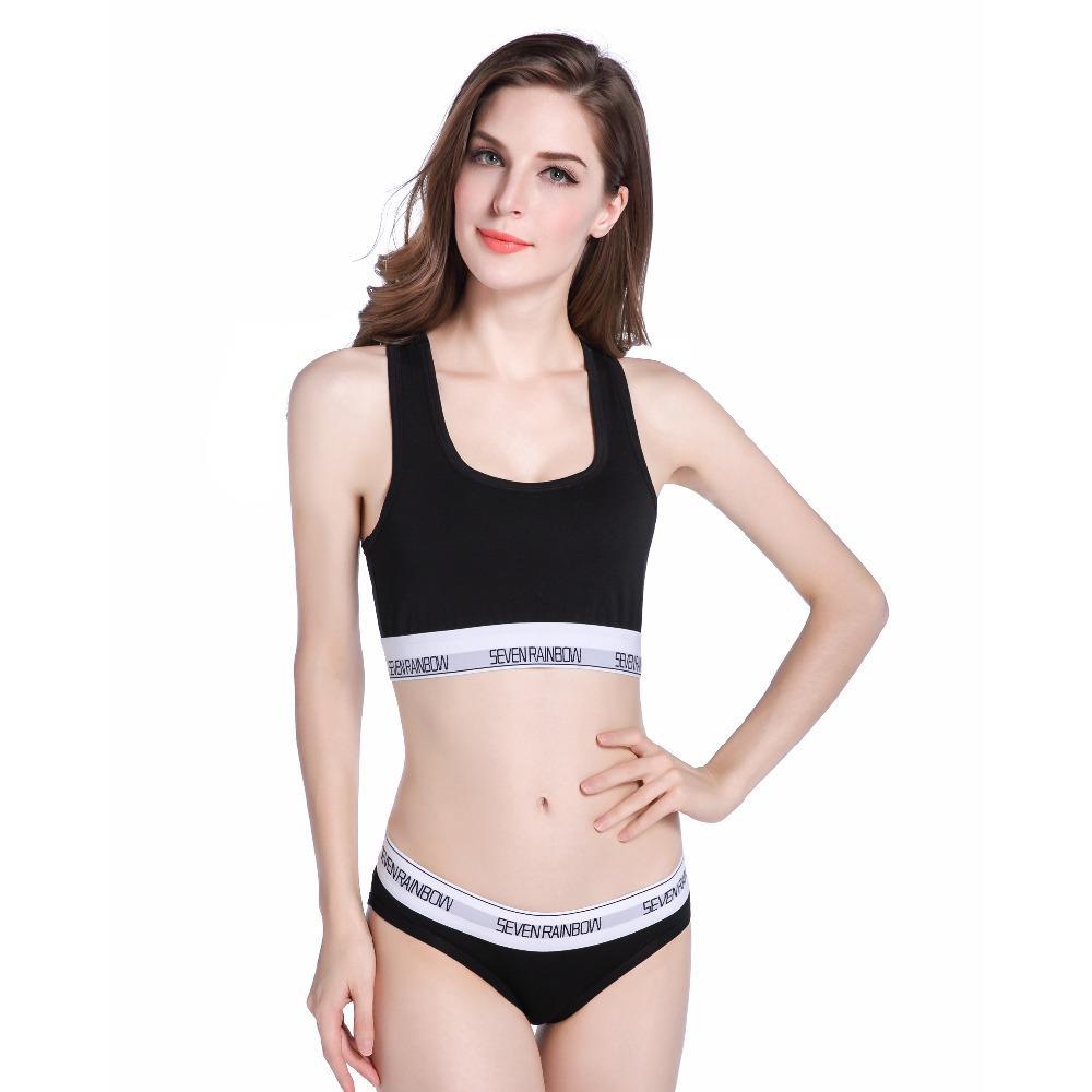 2019 2017 Women S Underwear Boxers Bra Set Cotton Comfortable Vest Intimates  Seamless Sexy Women Thongs Stretch Briefs Bras Sets From Vikey06 5aceeae6f