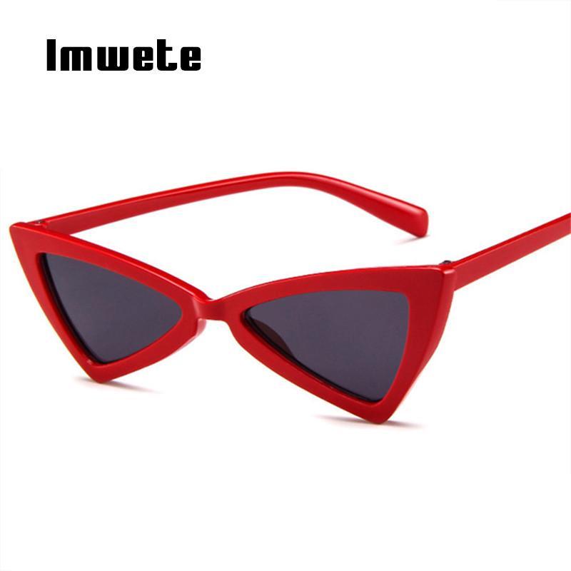 1e25526a55 Imwete Cat Eye Sunglasses Women Vintage Brand Designer Female Triangle  Butterfly Sun Glasses Retro Small Size Glasses Ladies Suncloud Sunglasses  Foster ...