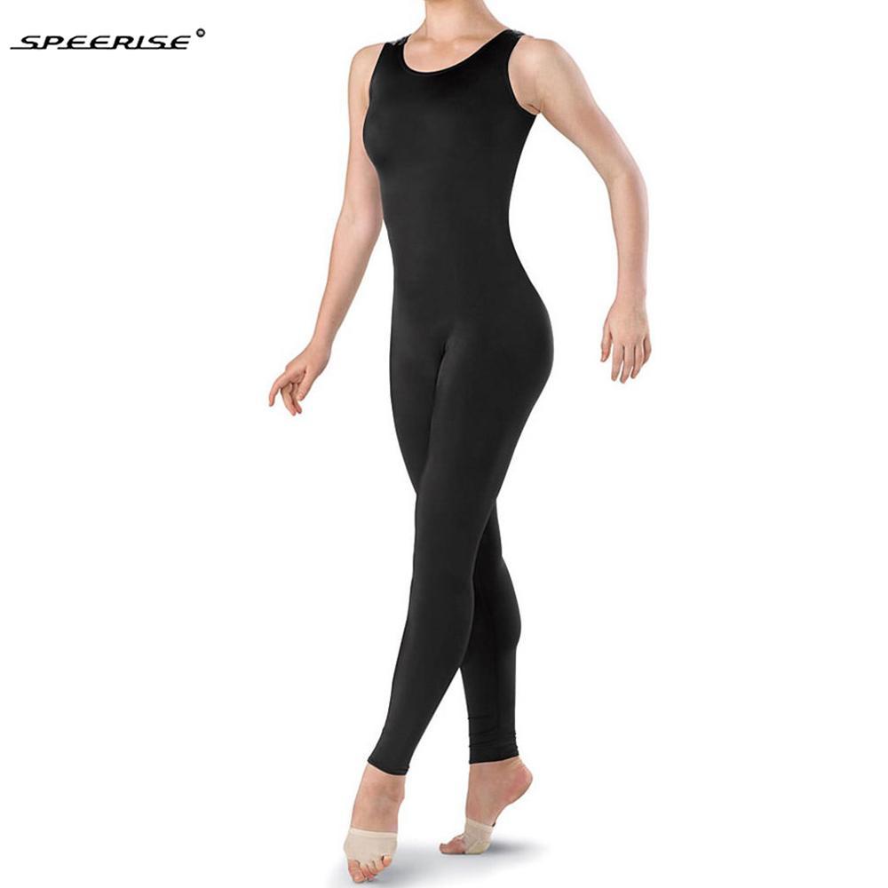 fea5dea26a5 2019 SPEERISE Women One Piece Black Tank Unitard Women Lycra Ballet  Sleeveless Full Body Tight Jumpsuit Dance Costumes Bodysuit From Beltloop