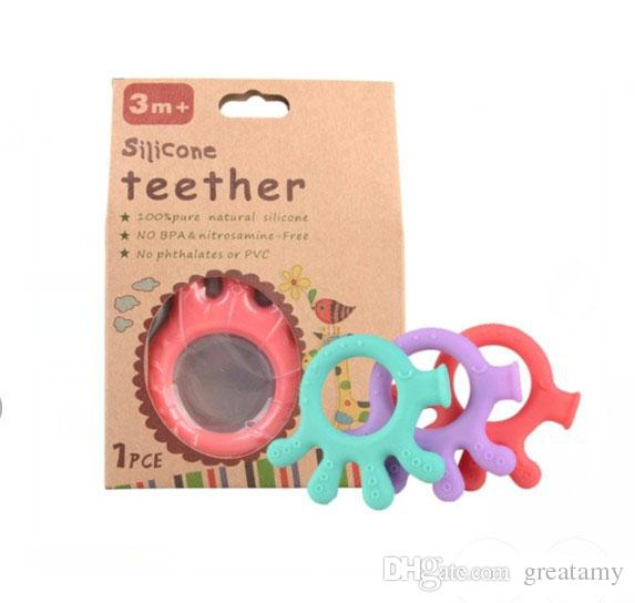 b1a8660ea2b3f 2019 Baby Cartoon Silicone Palm Teether Teething Toys BPA Free Natural  Organic Freezer Safe Teether Set Top Quality From Greatamy