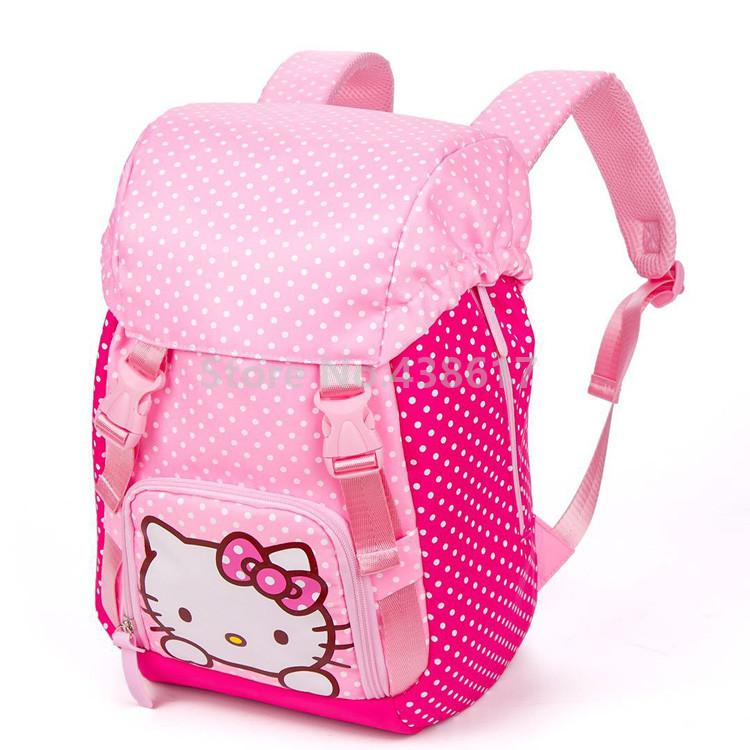 ... New Kawaii Cute Hello Kitty Backpack School Bags For Girls Kids  Children Elementary Primary School Bookbags ... bd3a369df2311