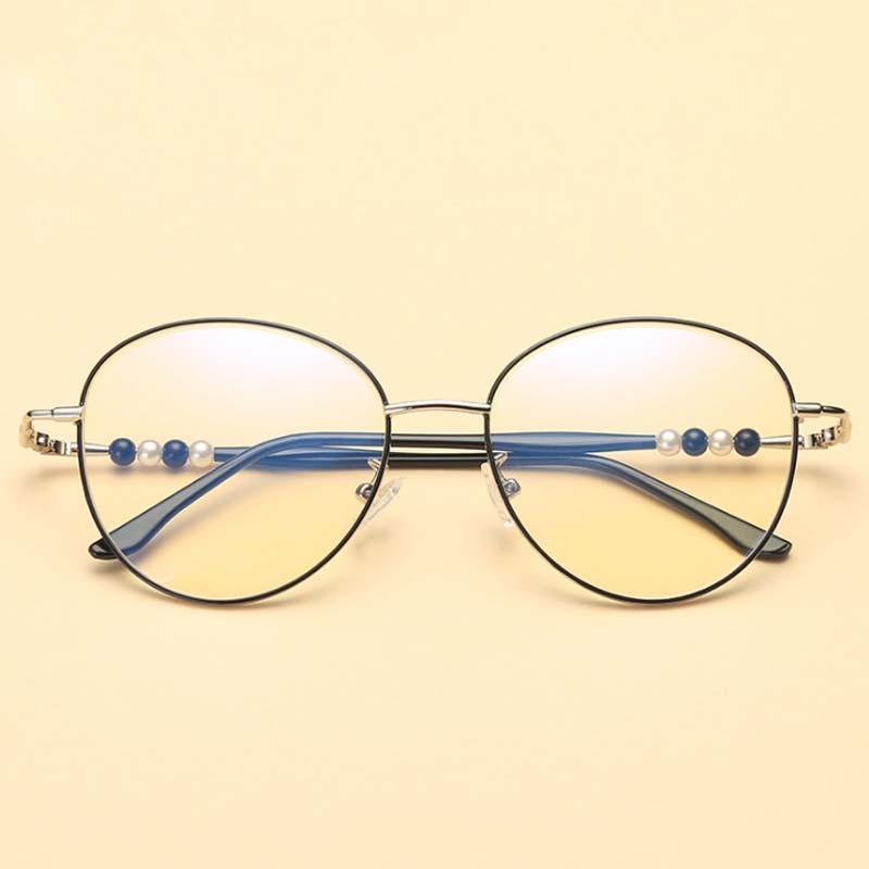 4a4607601 Compre ZICK BRAND Chic Óculos Retro Grande Armação De Metal Redondo Lente  Óculos De Samtime, $24.16 | Pt.Dhgate.Com