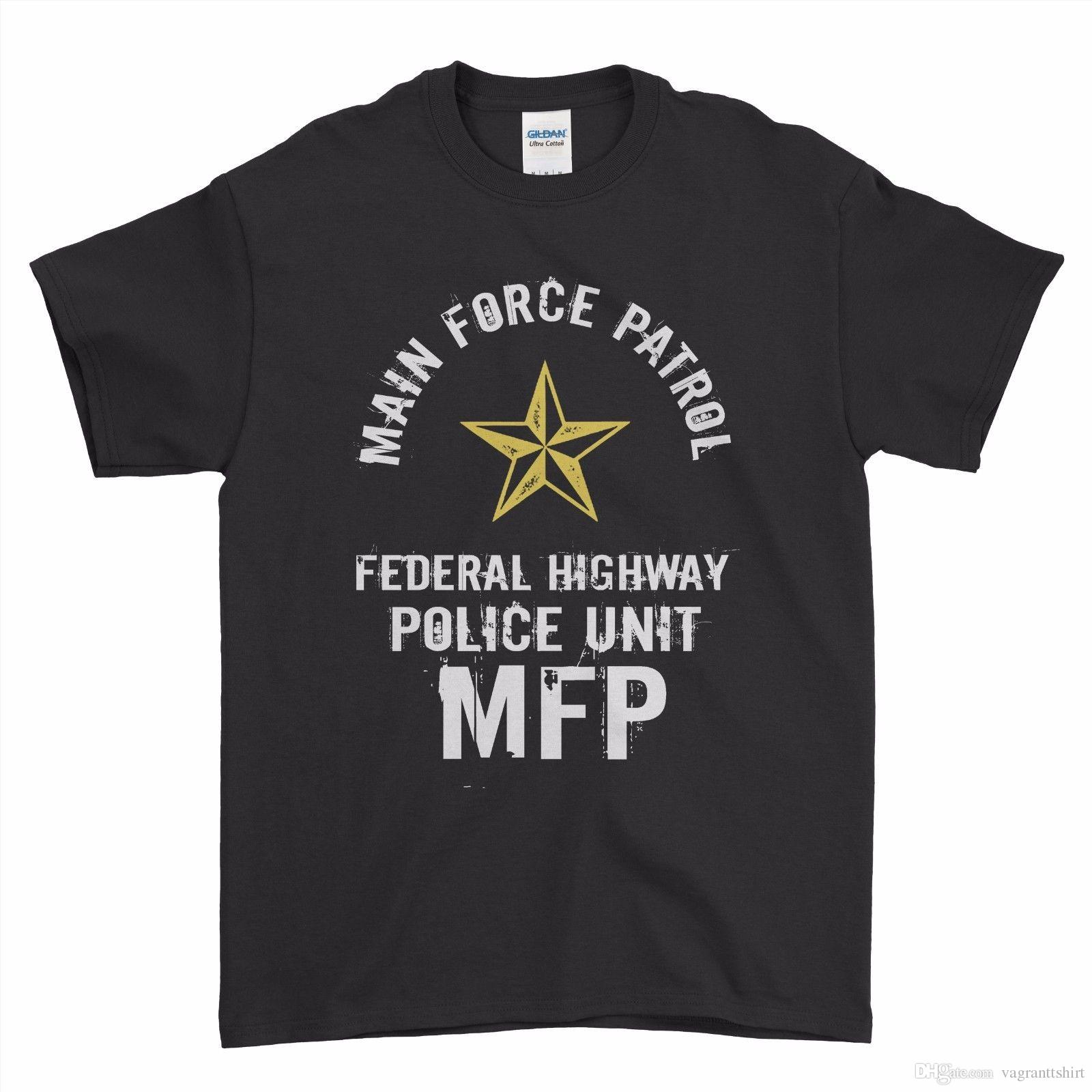 b5c2330fa47 Mad Max MFP Interceptor Movie Main Force Patrol Boys Men T Shirt Top Tee