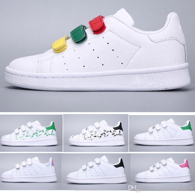 Acheter Adidas Stan Smith Superstar Noël Super Star Enfants Nouveau Stansmith Grils Sneakers Casual Leather Chaussures Enfants Sports Jogging Shoes Garcons ...