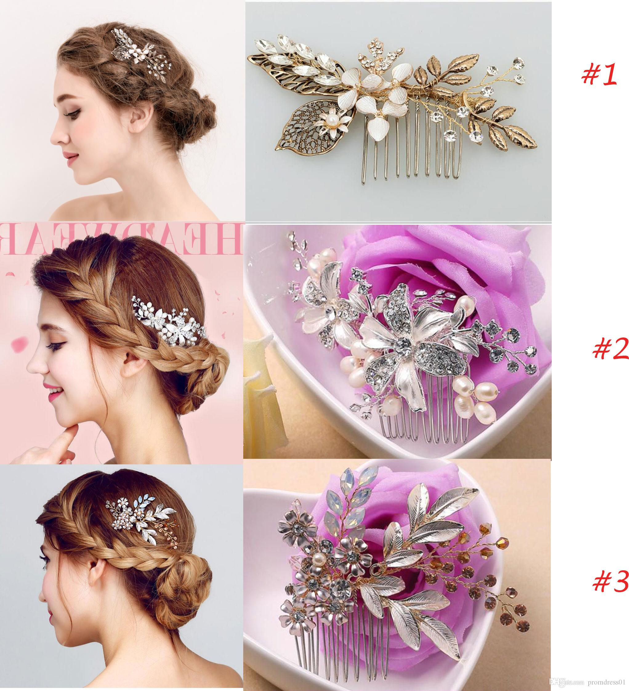 new arrival 3 styles wedding hair combs for bridal crystals pearls bridal  hair comb headpieces