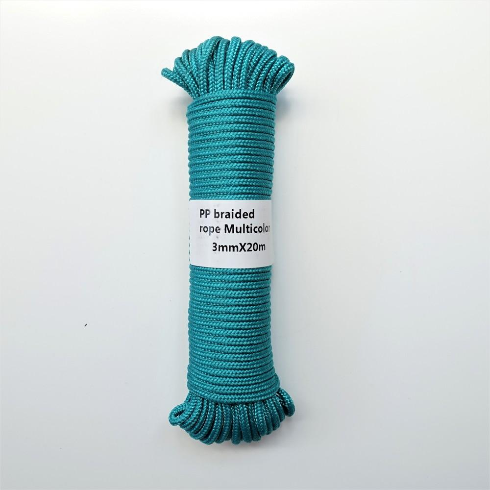 3mmx20m Braided Polypropylene Rope PP Clothes Line Packing Rope Home  Decoration DIY Hang Tag Garden Accessories Outdoor Camping