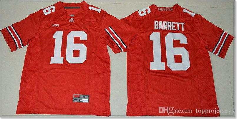 Kids Ohio State Buckeyes #16 J.T. Barrett 97 Joey Bosa Youth Vintage College American Football Sports Pro Team Jerseys Stitched Embroidery