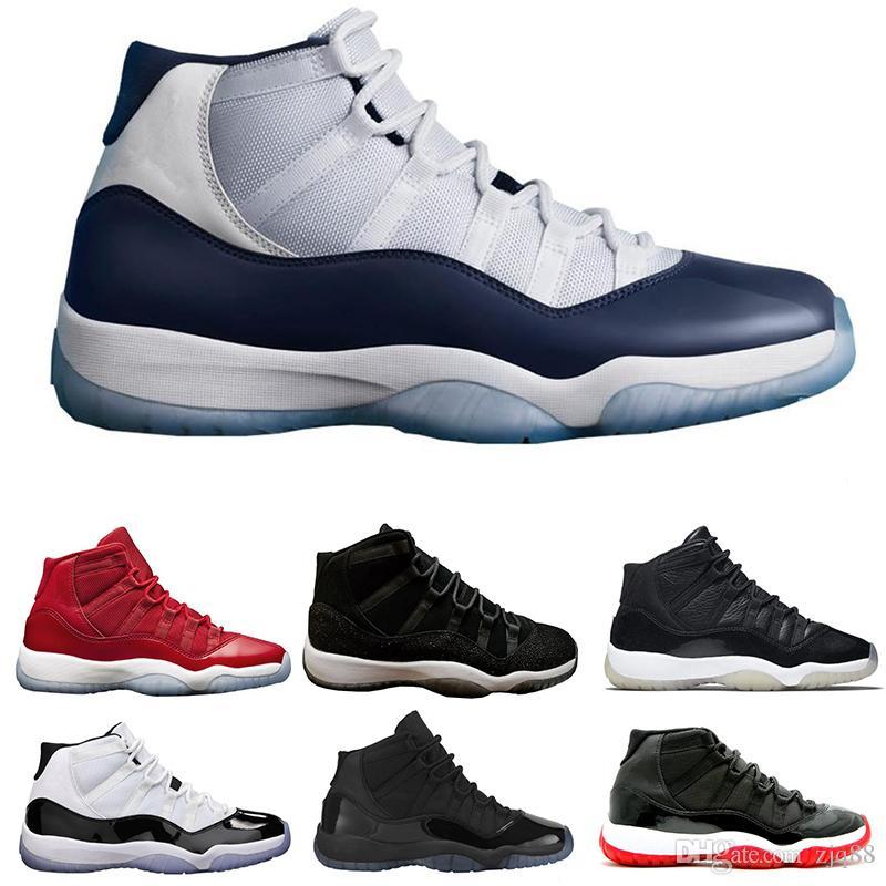 online store 696a9 e237f Großhandel Großhandelsart Nike Air Jordan 11 Und Weisefarbe Schwarze, Rote,  Blaue Und Weiße Breathable Schuhqualitätsmänner Und Frauen Beiläufige  Schuhe ...