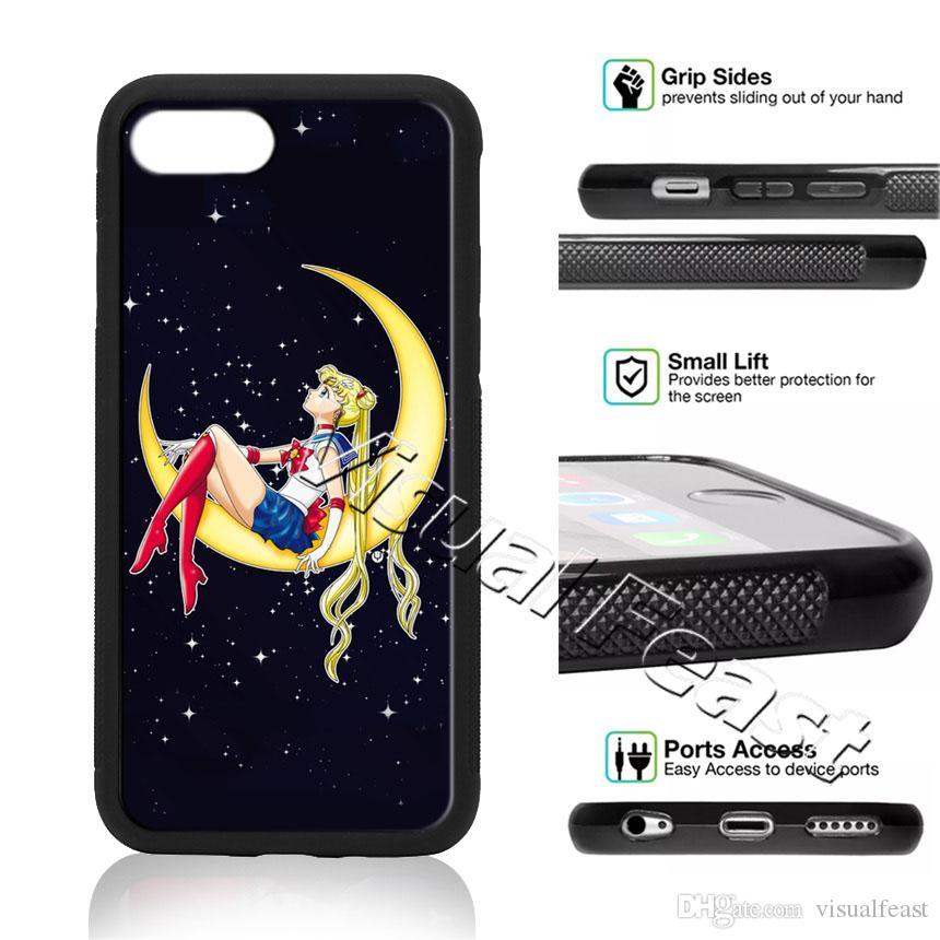 new styles 695d5 be5da Sailor Moon Princess Phone Case Cartoon Girl For iPhone X 8/7/6/6s Plus 5s  SE Cell Phone Cover Free Gift