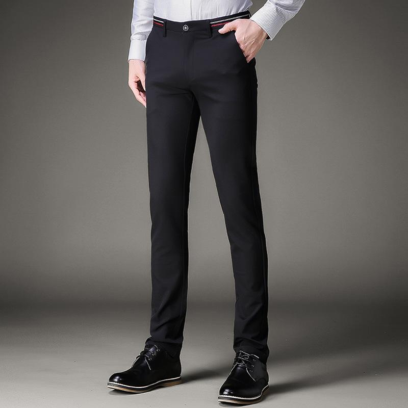 318ece4d7 Jbersee Men Dress Pants Formal Pants Slim Fit Suit Business Casual Wedding  Men Black Mens Dress Trousers perfume masculino