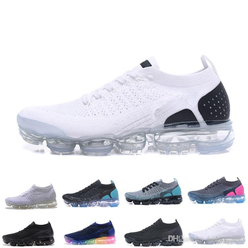caab6aed4cd739 2019 New Mens 2 Running Shoes For Women Sneakers Knitting TPU Fashion  Outdoor Athletic Sport Shoe Hiking Jogging Walking Trainers Best Shoes For  Running ...