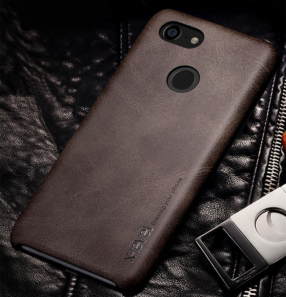 size 40 42d40 7bc6e Vintage back cover case For google pixel 3 XL leather phone bags 3XL shell  Luxury brand original desgin with retail package