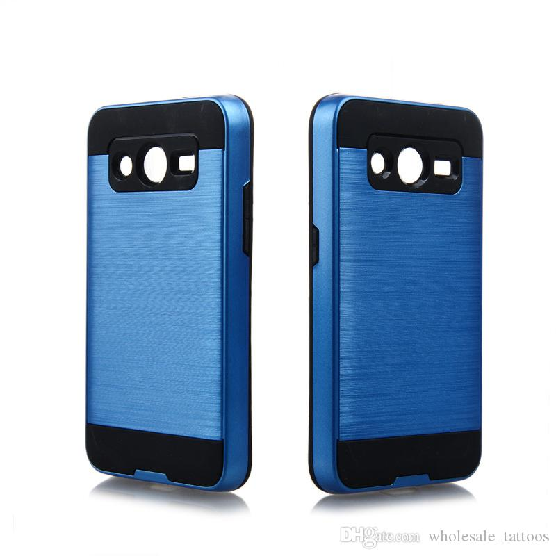 Luxury Hybrid Armor Brushed Back Cover Coque Funda For Samsung Glaxy Ace NXT G313H Grand Prime G530H Core Prime G360 Ace 4 G357 Core 2 G355H