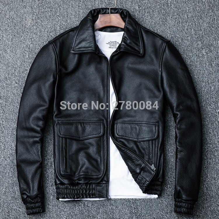 2019 Factory Men Leather Jacket Genuine Real Leather Cowhide Skin