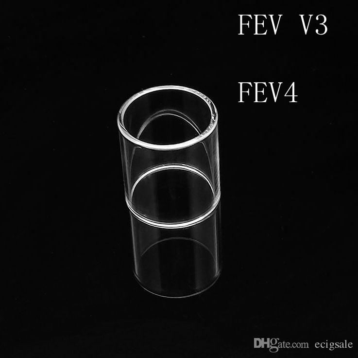 Hot Sell Fit FEV V3 FEV4 Replacement Clear Pyrex Glass Tube Bell cap Replacement Clear Pyrex