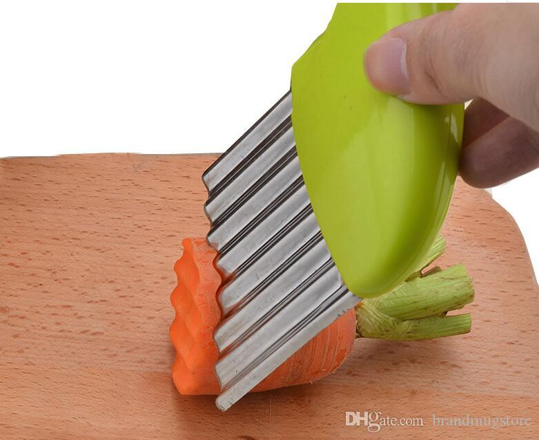 Creative Multi-Function Vegetable Cutter Stainless Steel Wavy Cutter Vegetable Carrot Slicer Potato Corrugated Knife Kitchen Tools