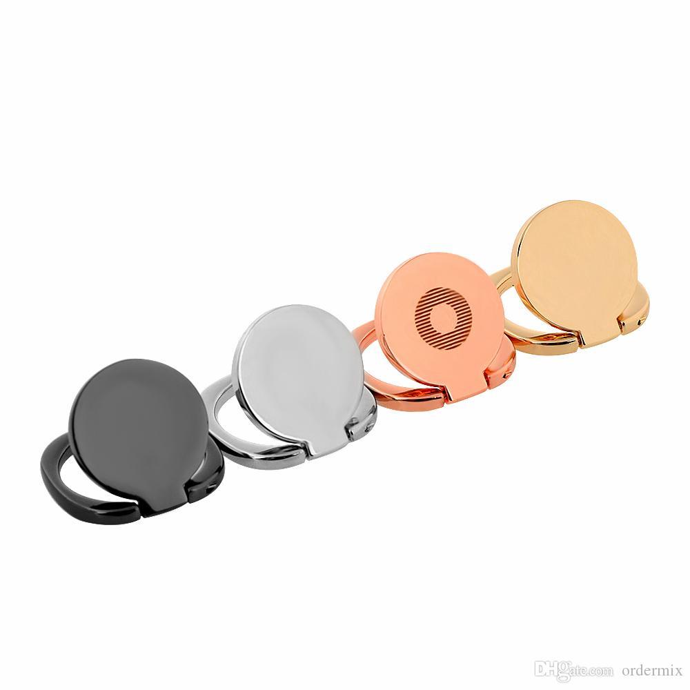 1 pezzo universale del telefono cellulare del basamento del telefono 360 supporto magnetico del supporto del basamento dell'anello di barretta adatto il basamento di lusso del telefono della staffa dell'automobile