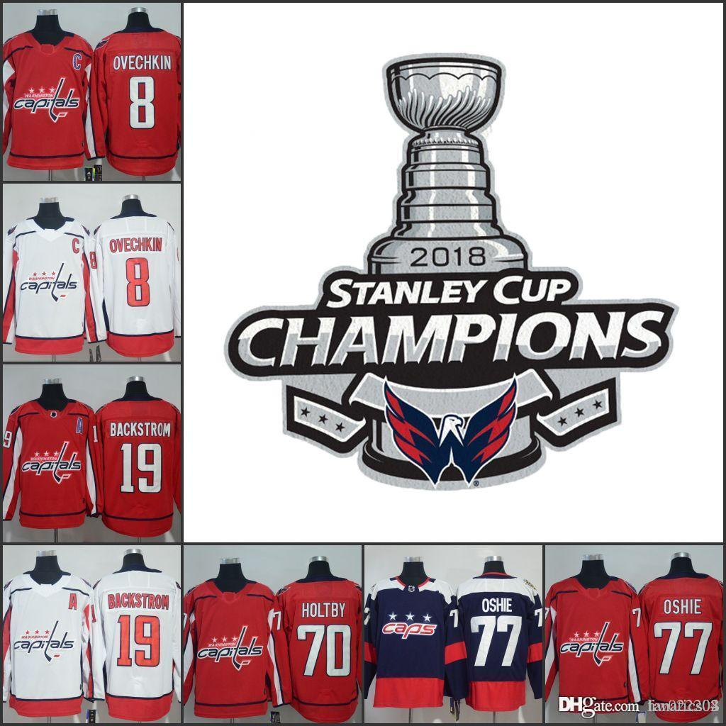 f01309b20 2019 2018 Men Women Kids Washington Capitals Champions Alexander Ovechkin  Nicklas Backstrom Braden Holtby T. J. Oshie Kuznetsov Hockey Jerseys From  ...