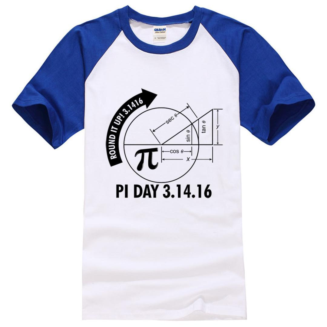 7f5d6a3c Pi Day 2017 3.1416 Round It Up Math Graph STEM Funny Print T Shirt Men 2017  Summer Patchwork Fashion Brand Tops Tee Shirts Man Humor Shirts Offensive T  ...