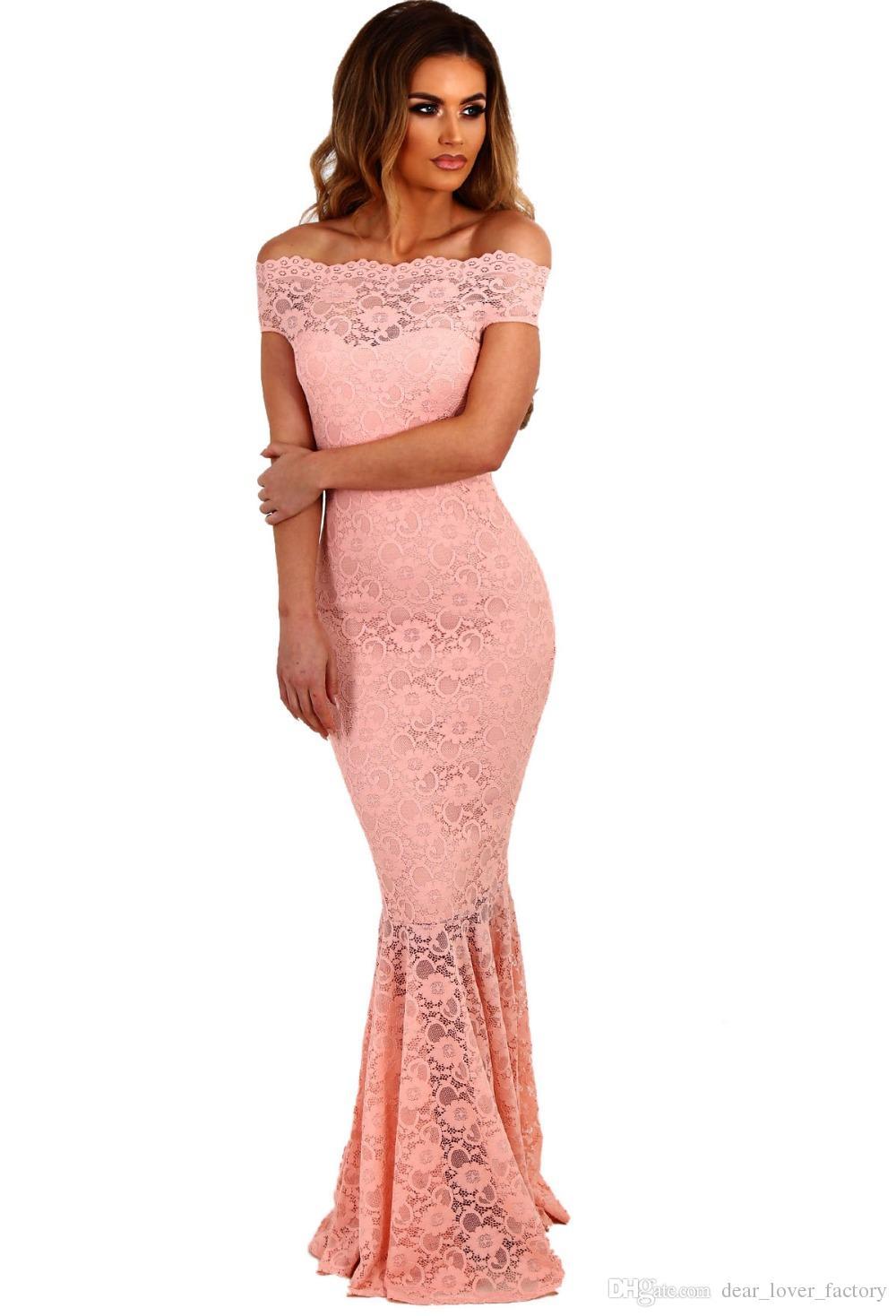 2018 Lace Wedding Dresses Party Gowns Off Shoulder Ladies Robe De ...