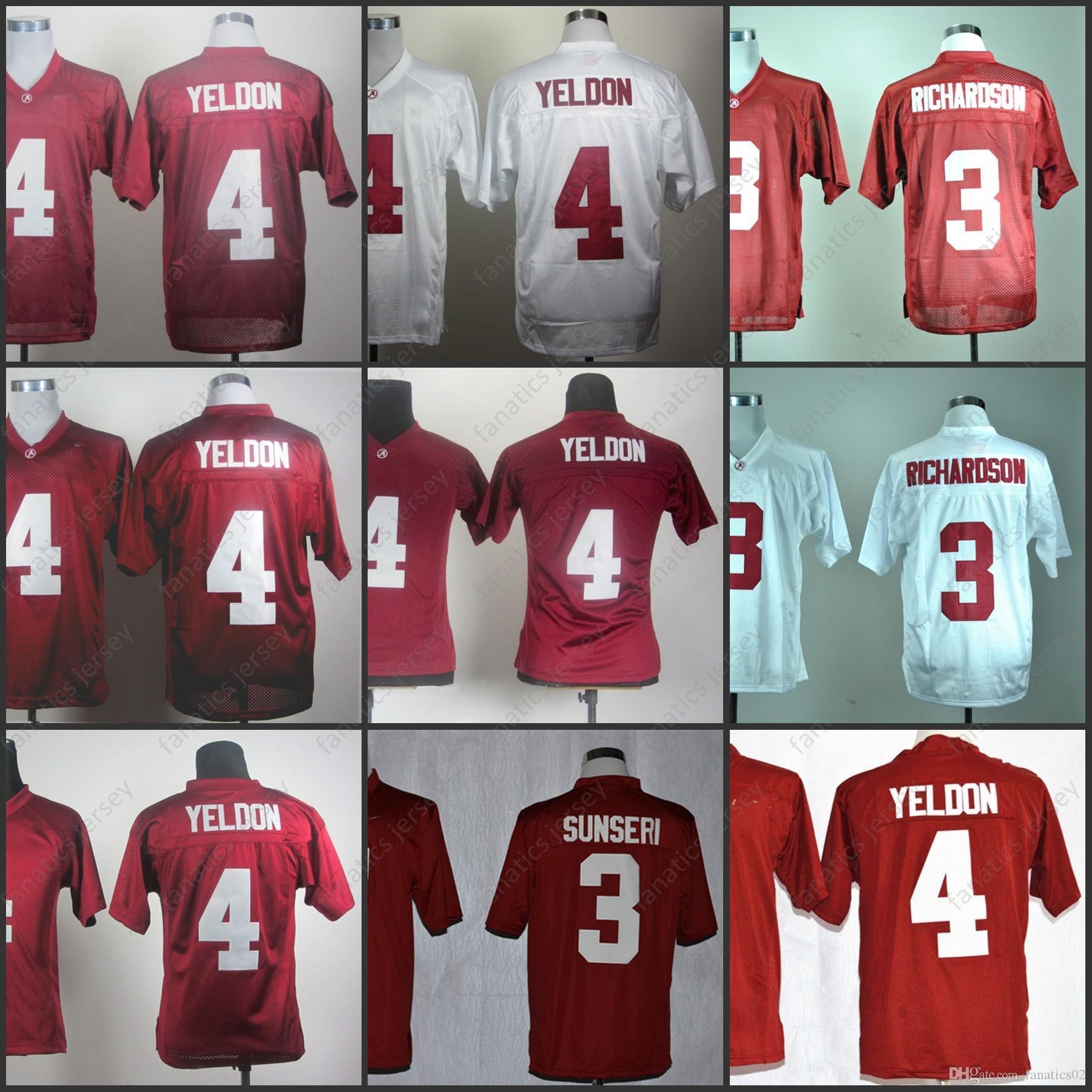 Alabama Crimson Tide Jersey NCAA Football T.J Yeldon Trent Richardson  Vinnie Sunseri 100% Stitched Men Women Kid youth Big Discount Online with   29.59 Piece ... 280047bfa