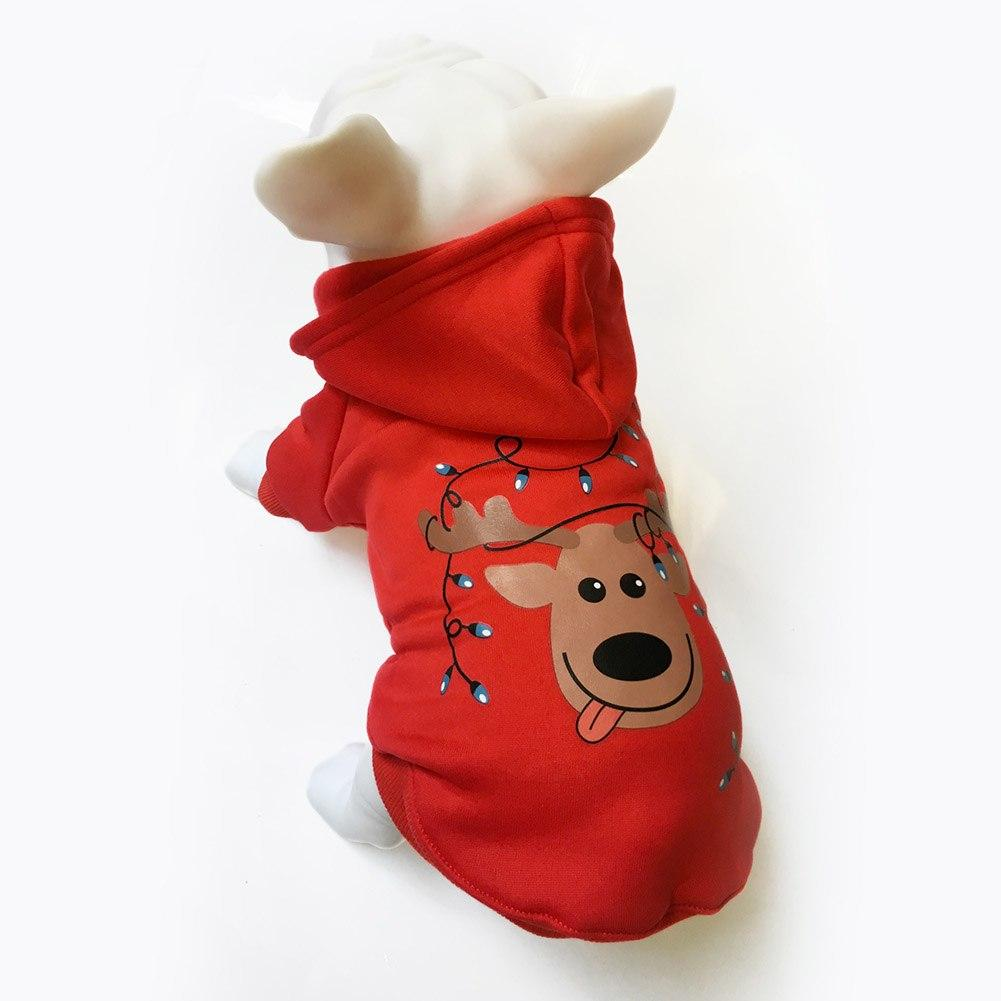 Pet Dog Christmas Clothes Puppy Sweaters Tree Pattern Costume Hoodie ...