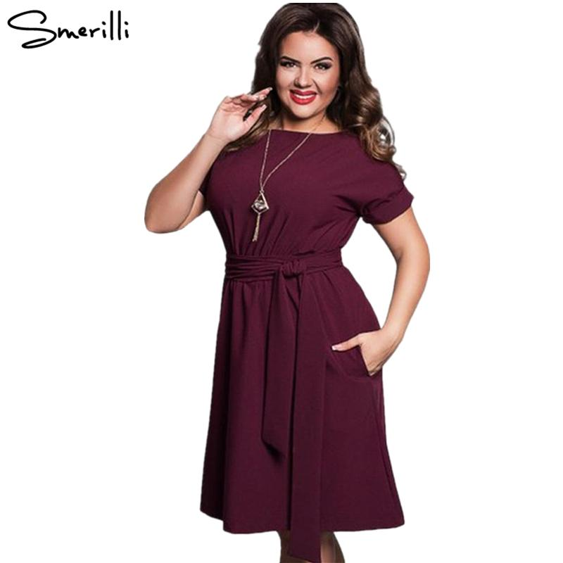 b8a5afd50f2 Casual Large Size Loose Lace Dress 2018 Fashion Plus Size Women Dresses  Vestidos Elegant Female Midi Dress With Belts Big Plus Size Prom Dress Prom  Dresses ...