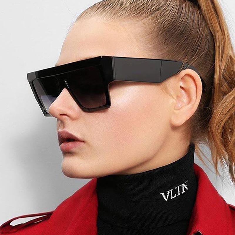6a561b7f9a Women Men Tops Square Sunglasses Big Frame Square Lense Sun Glasses Womens  Mens Fashion Vintage Sunglasses Hot Sale Eyewear Bifocal Sunglasses Retro  ...