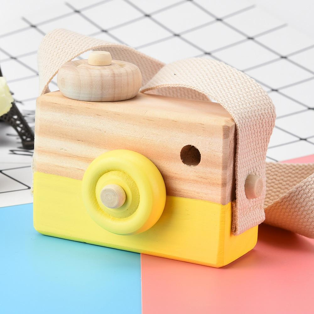 cute wooden toy camera baby kids creative hanging camera photography prop  children playing house decor toy gift18feb24