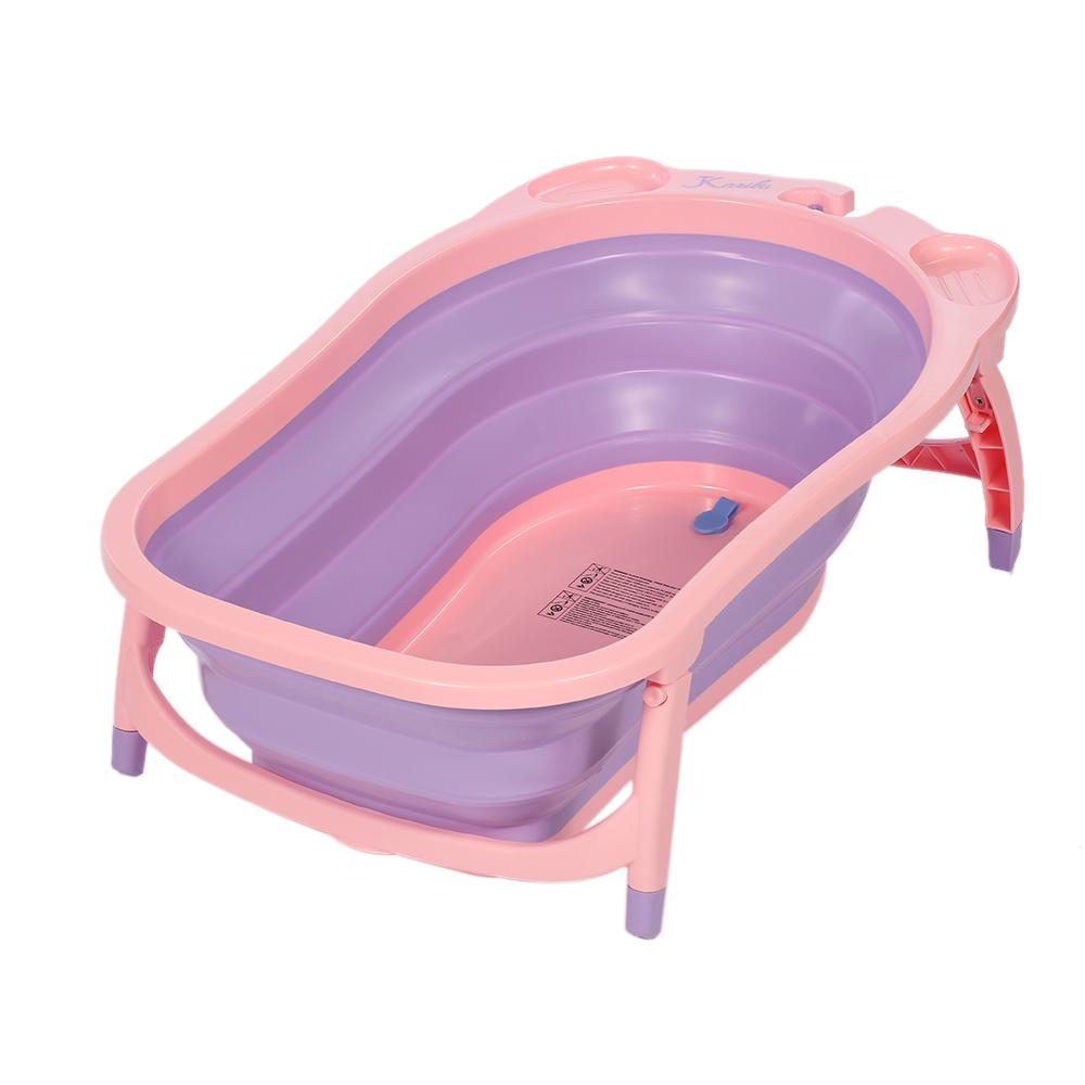 2019 Baby Toddler Folding Bathtub Thickened With Sponge