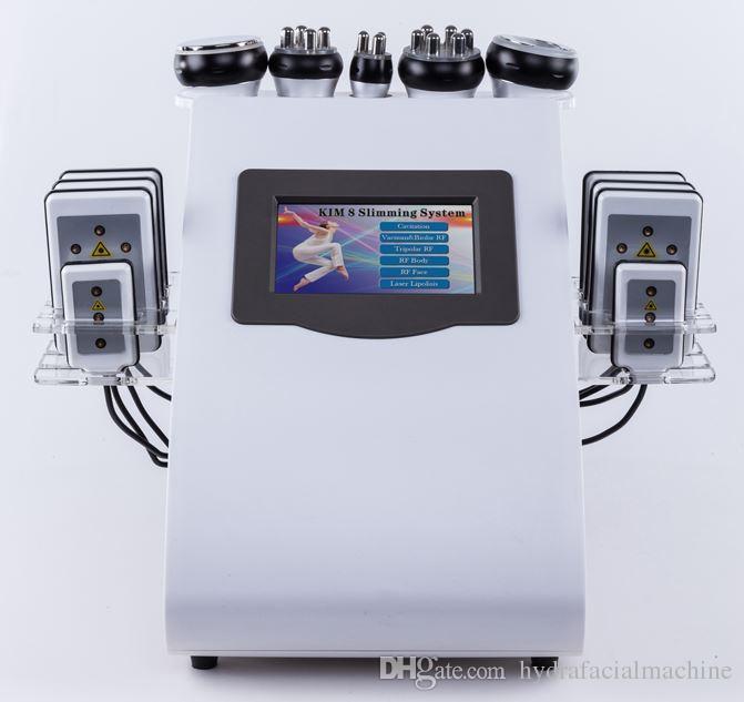 الجملة 40K بالموجات فوق الصوتية آلة التجويف آلة lipoLaser فراغ RF بالموجات فوق الصوتية شفط الدهون التجويف آلة التخسيس للبيع