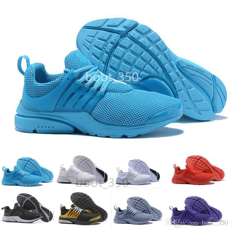 buy popular 215de 0e011 Acheter Nike Air Max Presto Nouveau PRESTO BR QS Breathe Jaune Noir Blanc  Hommes Prestos Chaussures Sneakers Femmes Chaussures Casual Hommes Sports  ...