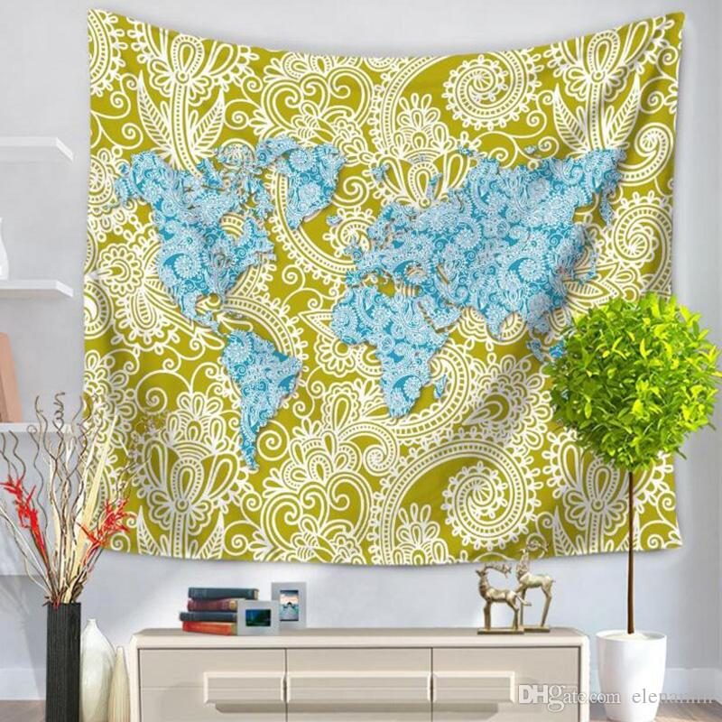 World map printed tapestry table mat beach towels yoga mat towel world map printed tapestry table mat beach towels yoga mat towel multifunction polyester wall hanging decor 150200cm southwest tapestry wall hanging gumiabroncs Choice Image