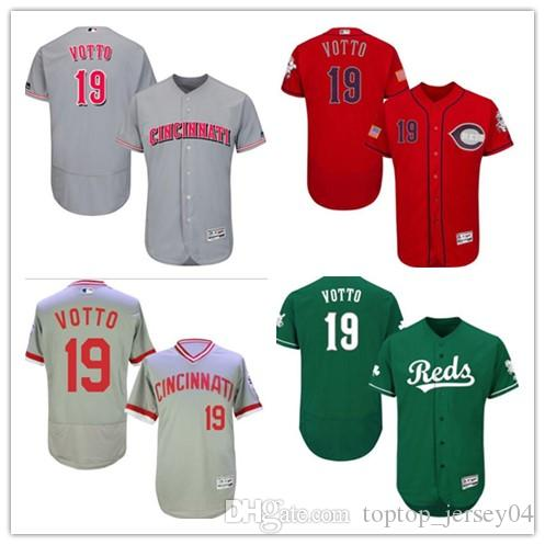 2018 2018 Can Custom Cincinnati Reds  19 Joey Votto Men women youth  Men S  Style Baseball Jersey Majestic Stitched Jerseys From Toptop jersey04 4e71538ff